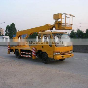 16 m jac high altitude operation truck, 16 m JAC bucket booming truck, 16m aerial platform working truck