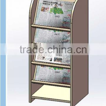 MED5222 4 tier MDF slope newspaper stand