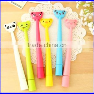 flexible pending animals head shape ball pen