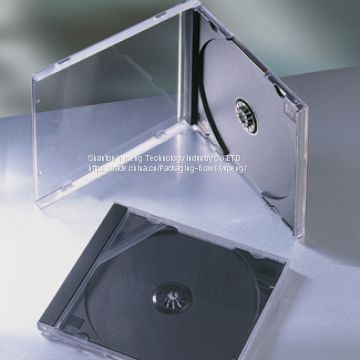 10.4mm JEWEL cd case jewel cd box jewel cd cover  single square with black tray