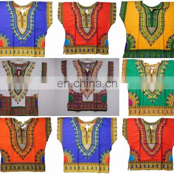 African kids Children Clothes Shirt Dashiki Print Boys Girl Dress Hippie Traditional-Kids-Dashiki-Boho-Tribal-Blouse S M L SIZE