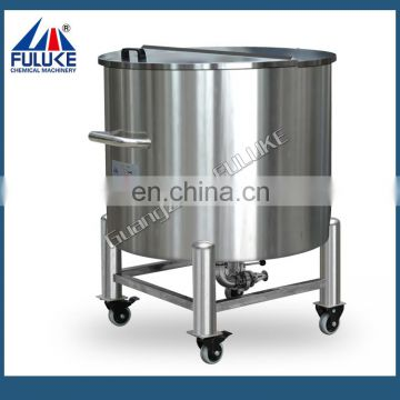 White colored farm liquid storage tank
