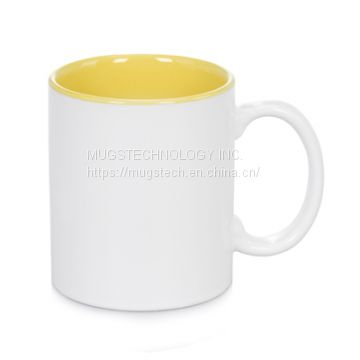 11oz Sublimation Two Tone Mug Inner Color-Yellow