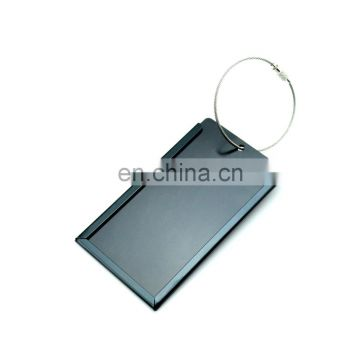 light metal travel luggage tag custom