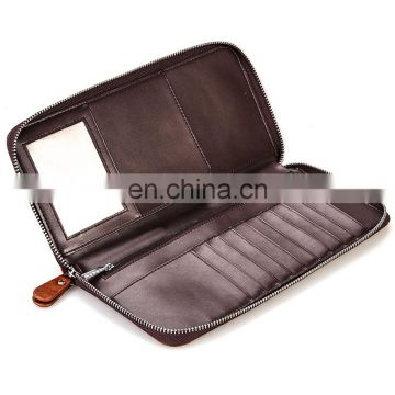 Top Material Competitive Price Men's Genuine Leather Passport Wallet