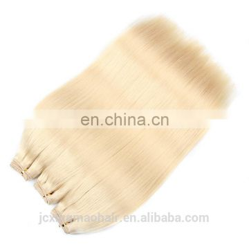 cheap brazilian hair weaving 18inch #613 blonde hair extensions