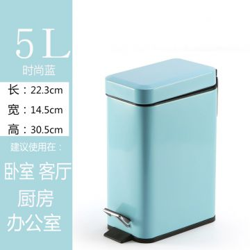 Stainless Trash Can Fashion Blue Wholesale Colorful