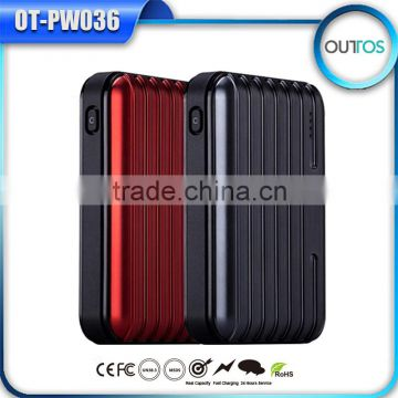 Dual USB power bank 10400mah portable suitcase style phone charger