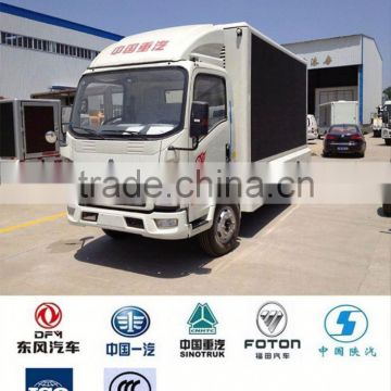 China Howo 4x2 led truck, truck led billboard tv