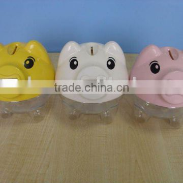 Plastic digital counting piggy money box/coin bank