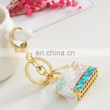 bag charm metal bag keychain for lady