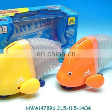 2013 hottes battery operated action fish with music & light