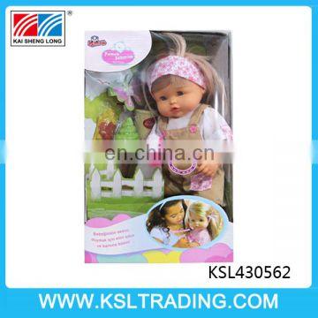 high quality 16 inch long hair pee baby doll kits for sale