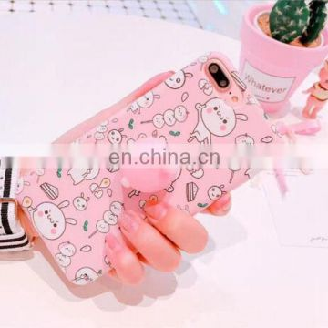 New Squishy Toys Custom 3D Silicone Cat Slow Rising Squishy Phone Case For Iphone 7