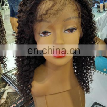 8a Virgin Brazilian Hair Kinky Curly Lace Front Wig Wholesale Human Hair Full Lace Wig For Black Women