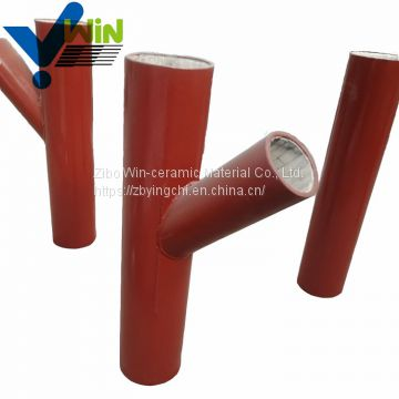 wear resistant material ceramic tube ceramic lined bend pipe
