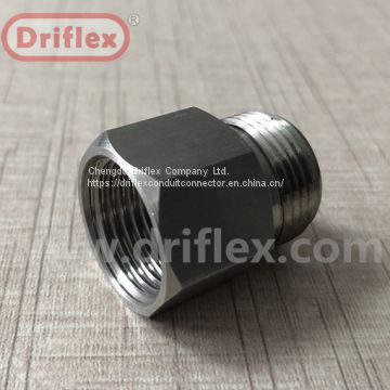 Driflex stainless steel male fitting tubing connector