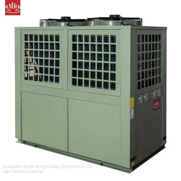 380v 125kw health silent work split air source heat pump for hotel  big pool