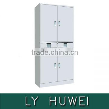 Hot sale 2 drawer metal storage file cabinet with 4 door commercial use