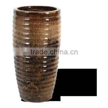 Ribbed Tall Vase, Color Blend