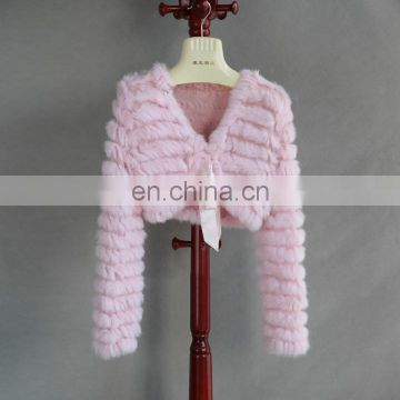 China Supplier Manual Knitted Rabbit Fur Coats Wedding Shawls