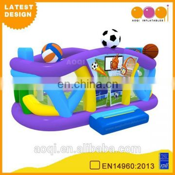 2015 AOQI latest design amusement park multifunction inflatable ball game area for sale