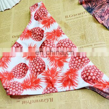 2017 printing sexy bikini for young girl 2 pieces fancy set