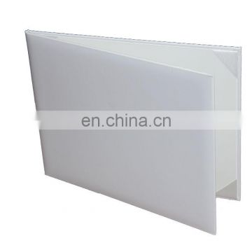 Hot sale 2016 White leatherette diploma covers for graduation for University