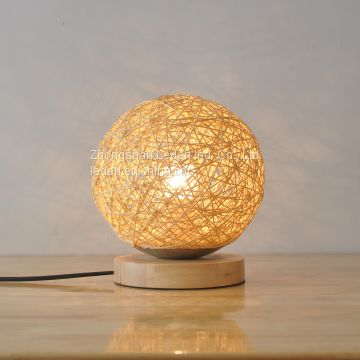 New Design Ball Shaped Wooden Table Lamp Table light