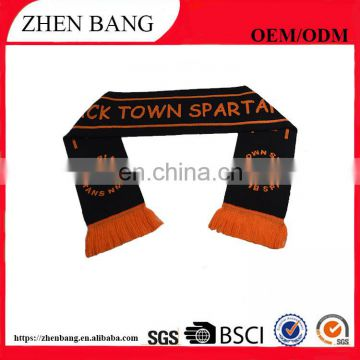 High Quality 100% acrylic sports team Football Fan Scarf