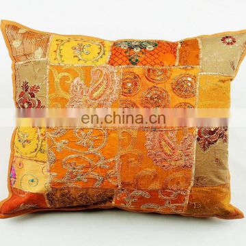 oem creative indian hand embroidered cotton cushion covers