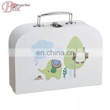 New Design Pattern Cardboard Suitcase Packaging Storage Box