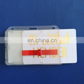 plastic pass holder with slides for two cards