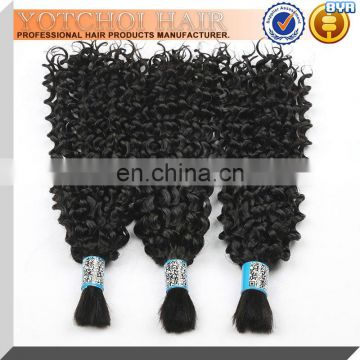 Expensive Afro Kinky Human Hair for Braiding Weaves Curly Wave High Quality Thick Unprocessed Virgin Brazilian Human Hair