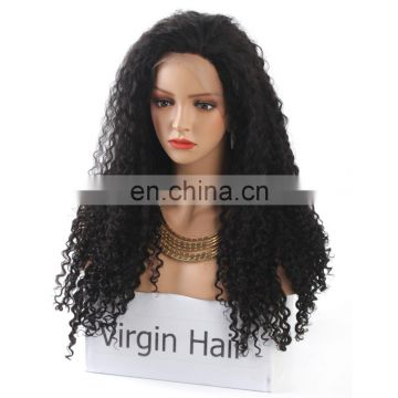 Virgin brazilian human hair kinky curly wig for black women