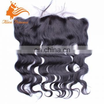 High Quality Brazilian Hair Body Wave Silk Base Lace Frontal Black Virgin Human Hair Lace Frontal Closure
