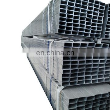 Construction high quality q345 material galvanized rectangular tube