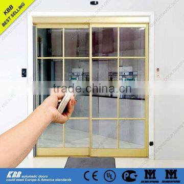 residential automatic sliding door with aluminum frame