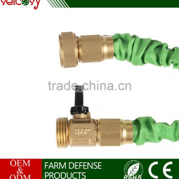 20 50 75 100ft Flexible And Expandable Garden Water Hose With Brass Connector And 8 pattern spray nozzle