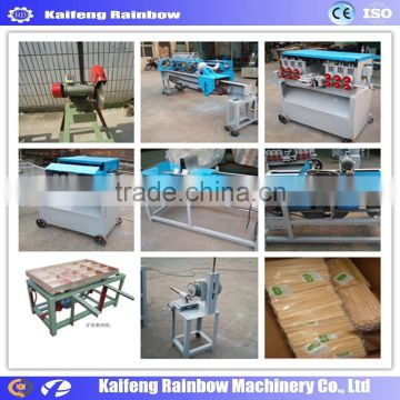 Automatic wood or bamboo toothpick production line used in many small and large factories