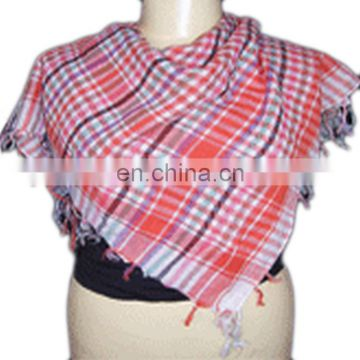 COTTON ARAB SCARF CHECKED DESIGN