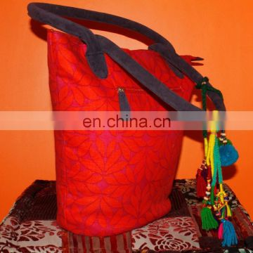 royal indian traditional design handmade cotton bag