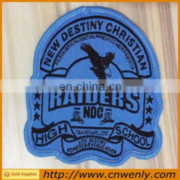 Garment canvas woven fabric school badges with your logo