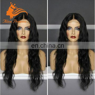 100% Human Hair Wig Virgin Brazilian Water Wave Human Hair Silk Top Lace Front Wig With Natural Hairline