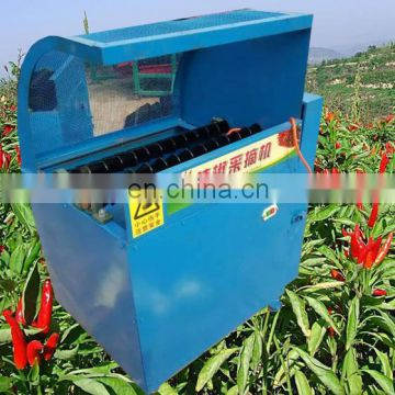 Big Capacity Multifunctional Automatic farm use red chili picking machine /pepper picker harvester with high capacity