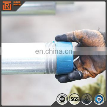 Big diameter hot dip Galvanized steel pipes zinc coating 220g/m2, round welded steel pipe 6inch-12 inch size