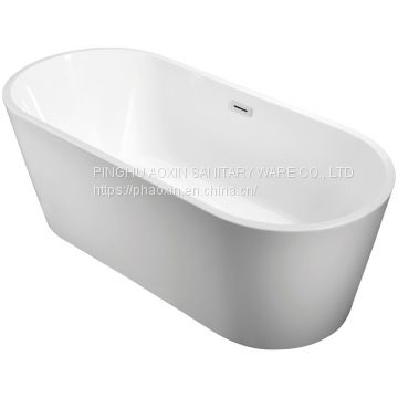 Freestanding White Acrylic Bathroom Bathtub Fashion Style