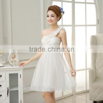 0f8c5fd5a8 White Red Champagne Wedding Bridesmaid Dresses Short Girl Prom Gowns Women Elegant  Party Princess Ball Dress of Apparel from China Suppliers - 124847781