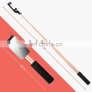 Universal High Quality Extendable Wired Selfie Stick 3.5mm Audio Cable Control with Mirror