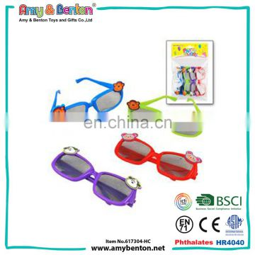 Cheap promotional children funny cartoon plastic sunglasses